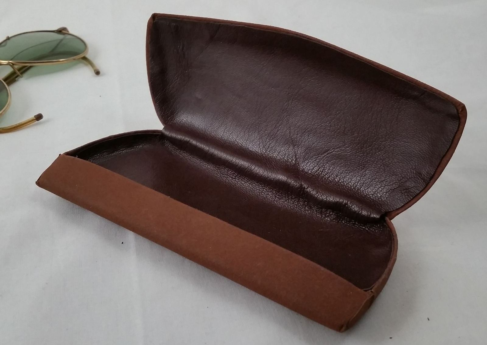 Refurbished with new Lambskin Liners Antique Eyeglass Cases